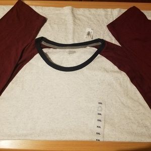 Two men's long sleeved tee shirts